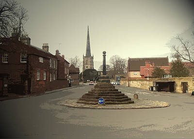 Repton Cross, This Spot Marks The Place Where Christianity Art Print by Litz Collection