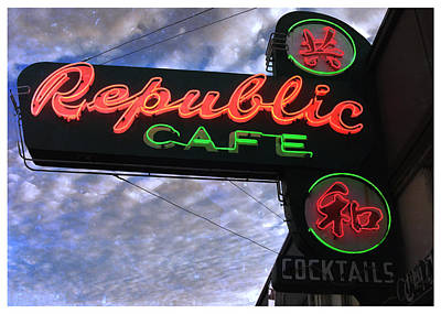 Photograph - Republic Cafe by Gail Lawnicki
