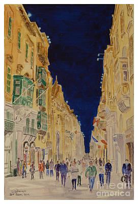 Republic Street Valletta Malta Art Print