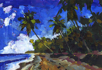 Caribbean Sea Painting - Republica Dominicana by Douglas Simonson