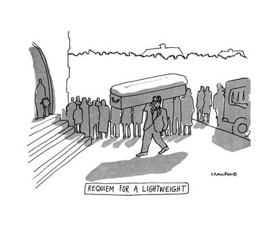Lightweight Drawing - Requiem For A Lightweight by Michael Crawford