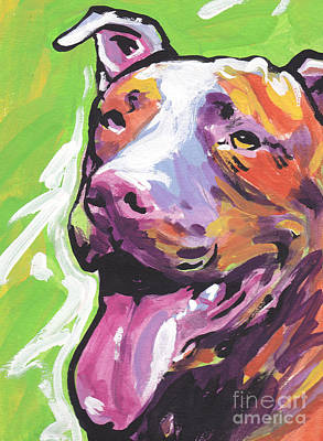 Pitbull Painting - Rescue Me by Lea S