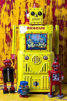 Rescue Robot Art Print by Garry Gay