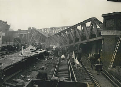 Rescue Work Goes On In The Lewisham Rail Crash Engineers Art Print by Retro Images Archive
