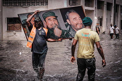 Flood Wall Art - Photograph - Rescued Castro by Andreas Bauer