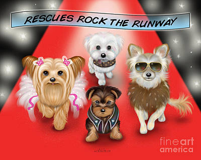 Painting - Rescues Rock The Runway by Catia Lee