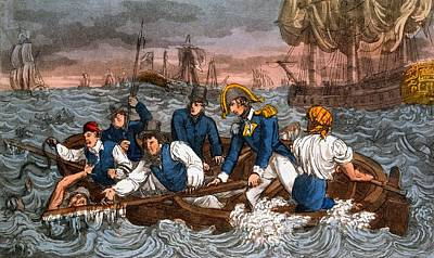 Saving Drawing - Rescuing A Sailor From The Sea by Charles Williams