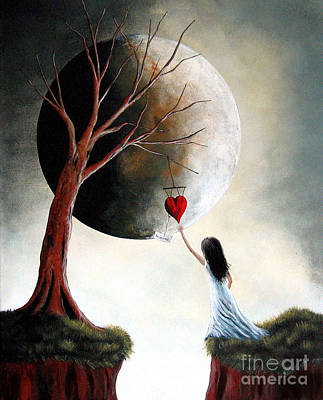 Big Moon Painting - Reserved By Shawna Erback by Shawna Erback