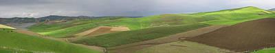 Reservoir And Green Fields Near Fes Art Print