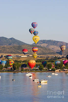Steven Krull Royalty-Free and Rights-Managed Images - Reservoir Balloons by Steven Krull