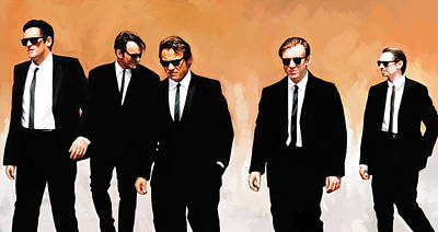 Tim Mixed Media - Reservoir Dogs Movie Artwork 1 by Sheraz A
