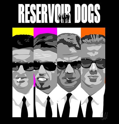 Reservoir Dogs Digital Art - Reservoir Dogs Pop Art by Paul Dunkel