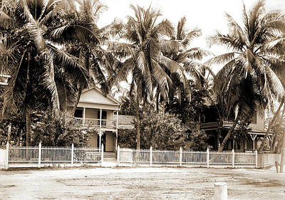 Key West Drawing - Residence In Palm Grove, Key West, Fla, Dwellings by Litz Collection