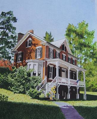 Mixed Media - Residence In Sussex County by Constance Drescher