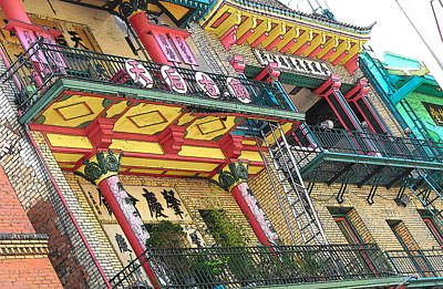 Photograph - Residence Over Bun Lam Florist by Strangefire Art       Scylla Liscombe