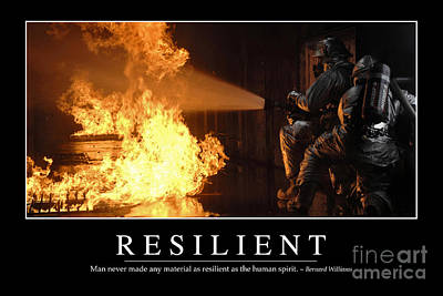 Resilient Inspirational Quote Art Print