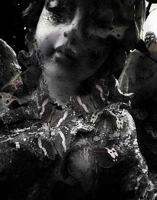 Goth Photograph - Resin by David Fox