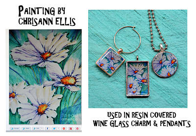 Jewelry - Resin Jewelry Using Artwork By Chrisann Ellis  by Carla Parris