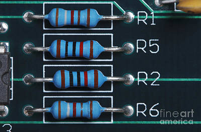 Electronic Component Photograph - Resistors by GIPhotoStock