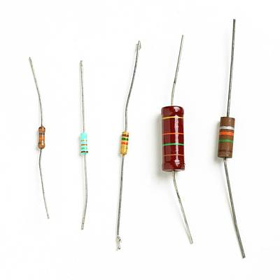 Resistor Photograph - Resistors by Science Photo Library