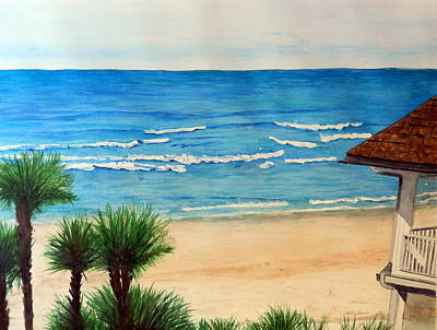 Painting - Resort View by Betty-Anne McDonald