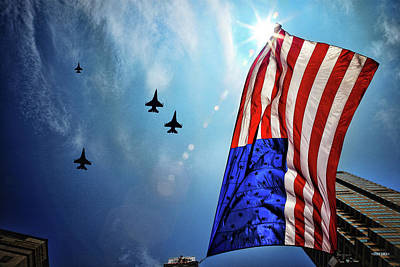 Missing Man Formation Photograph - Respect And Tradition by Steven Llorca