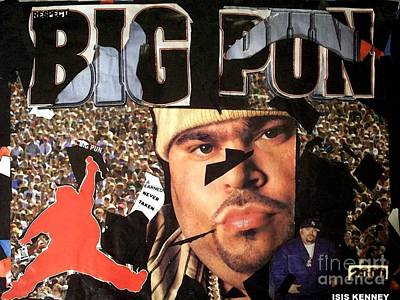 Big Pun Mixed Media - Respect The Punisher Big Pun  by Isis Kenney