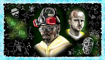 Aaron Paul Painting - Respect The Chemistry by Vinny John Usuriello