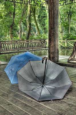 Umbrellas Photograph - Respite From The Rain 1 Hangzhou China by Rob Huntley