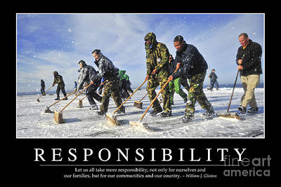 Photograph - Responsibility Inspirational Quote by Stocktrek Images