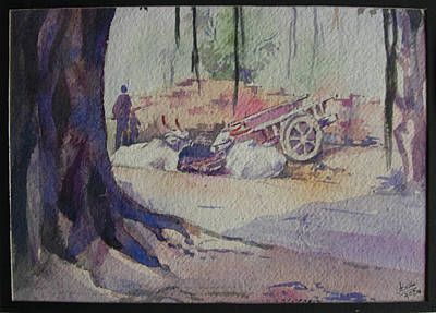 Bullock-cart Painting - Rest by Deepali Sagade