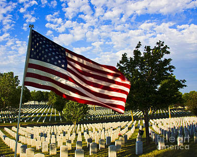 Rest In Peace Fort Snelling National Cemetery Art Print by Wayne Moran