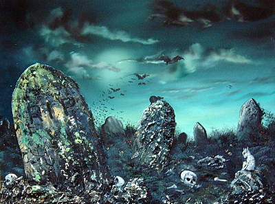 Burial Grounds Painting - Rest In Peace by Jean Walker