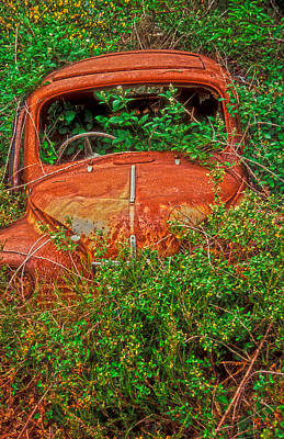 Overruns Photograph - Rest In Peace My Sweet Renault by Laurence Delderfield