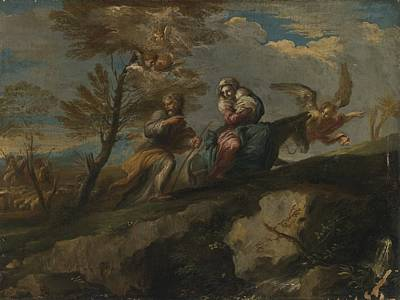 Pace Painting - Rest On The Flight Into Egypt by Celestial Images
