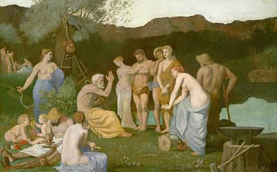 Rest Art Print by Pierre Puvis de Chavannes