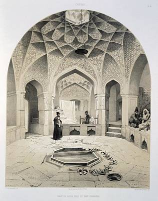 Vault Drawing - Rest Room Beside The Baths At Shemakha by Grigori Grigorevich Gagarin
