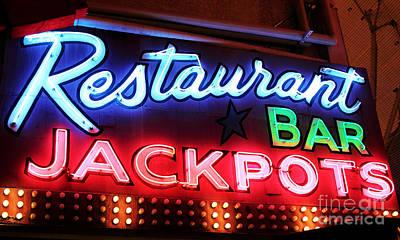 Photograph - Restaurant Bar Jackpots by John Rizzuto