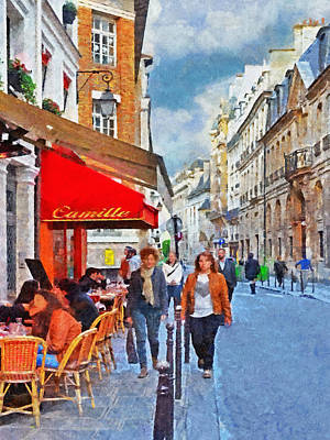 Digital Art - Restaurant Camille In The Marais District Of Paris by Digital Photographic Arts