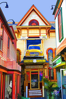 Photograph - Restaurant In Downtown Bar Harbor Maine by Randall Nyhof