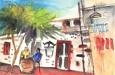 Painting - Restaurant In Puerto Carmen In Lanzarote by Miki De Goodaboom
