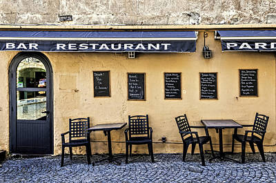Photograph - Bar Restaurant by Maria Coulson