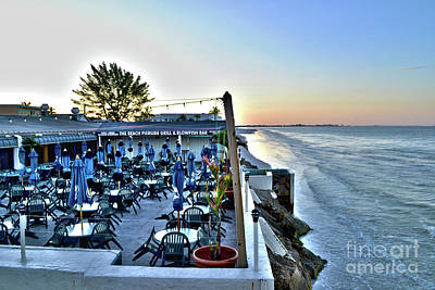 Restaurant On Fort Myers Beach Florida Art Print by Timothy Lowry