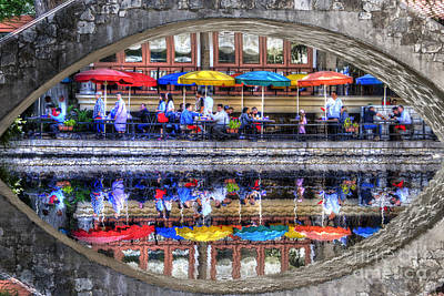 Photograph - Restaurant On Riverwalk San Antonio Texas by Dan Friend