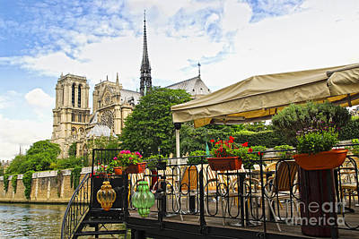 Traveller Photograph - Restaurant On Seine by Elena Elisseeva