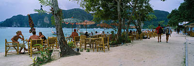 Restaurant On The Beach, Ko Phi Phi Art Print by Panoramic Images