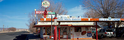 Route 66 Photograph - Restaurant On The Roadside, Route 66 by Panoramic Images