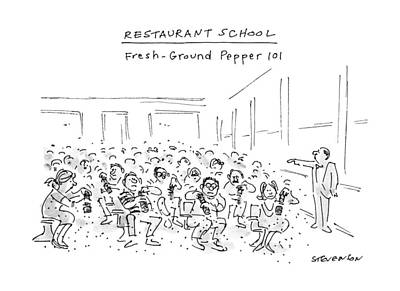 Sit-ins Drawing - Restaurant School Fresh-ground Pepper 101 by James Stevenso