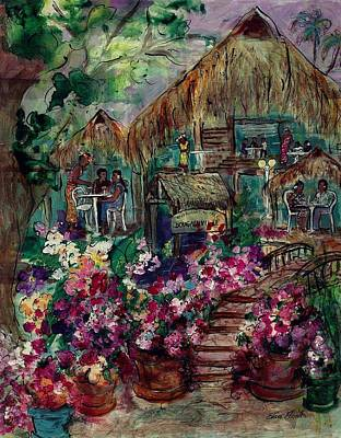 Painting - Restaurante Bougainville by Elaine Elliott