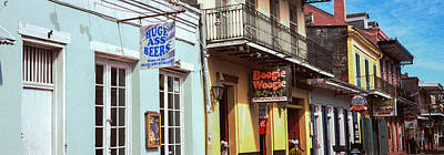Restaurants Along Bourbon Street Print by Panoramic Images